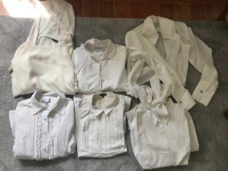 Camisa Branca Massimo Duti, La Redoute, Zara, varias
