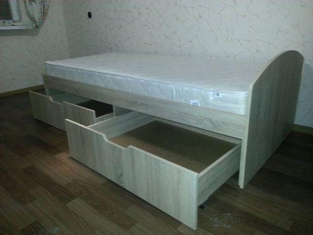 Недорогая Кровать с Ящиками Односпальная 90х200! Доставим!