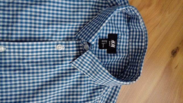 koszula męska w kratę H&M