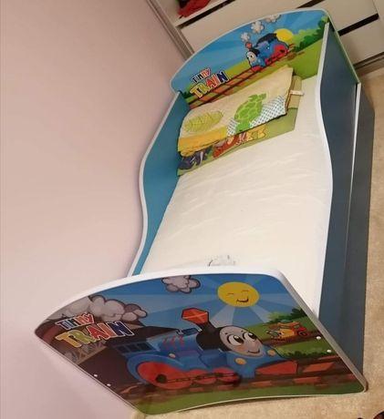 Łóżeczko z materacem i szufladą 140x70