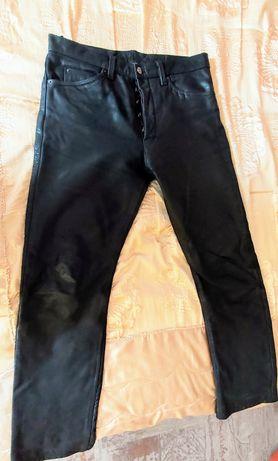 Spodnie motocyklowe ze skóry