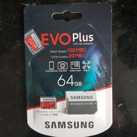 Sd-карта Samsung Evo Plus на 64 GB
