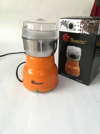 Кофемолка Domotec MS-1406 нержавеющая сталь, пластик, от сети 220В