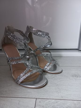 Sandały srebne New Look