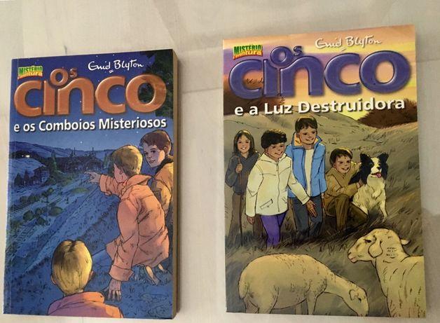 """Conjunto de Livros """"Os Cinco"""""""