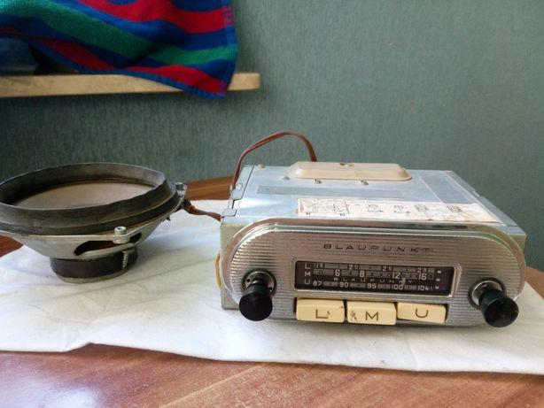 Zabytkowe radio ford taunus BLAUPUNKT ESSEN lata 60 + głośnik