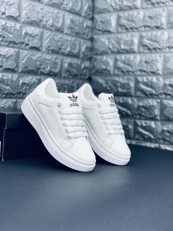 Кроссовки шкіряні мужские Адидас, Adidas кросiвки білі шкіра! Топ!