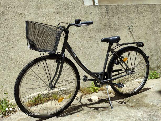 Bicicleta Btwin (Elops City Bike) de senhora c/ cesto