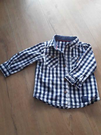 Koszula niemowlęca w kratkę 68 74