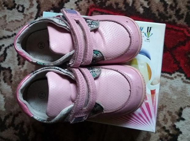 Демисезонные кожаные ботиночки Комфорт 24 размер, осень, ботинки