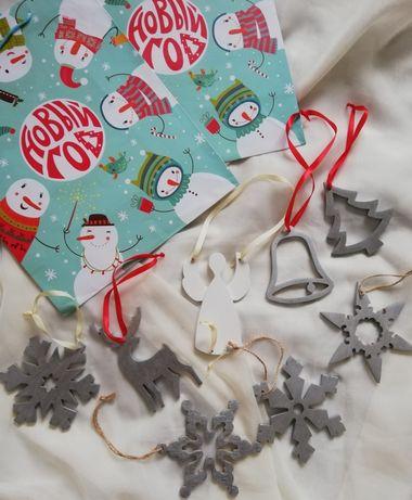 Новогодние игрушки опт деревянные рождественские