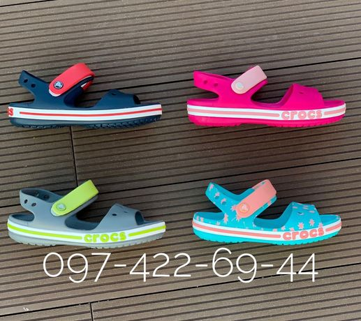 Детские для девочки и мальчика Crocs Sandal Crocband Сандалии крокс