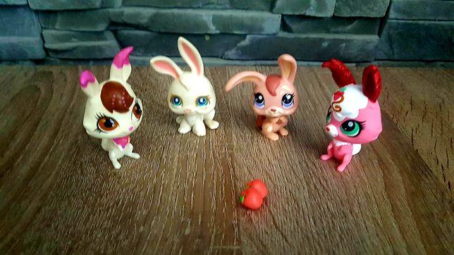 Littlest Pet Shop LPS figurki królików + akcesoria