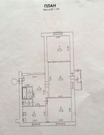 Продам 3-комнатную квартира от хозяина в центре города. сталинка.