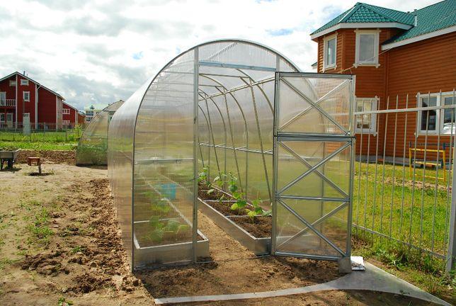 Szklarnia ogrodowa Dwuszka 2m x 4m x 2,2, stal, poliwęglan