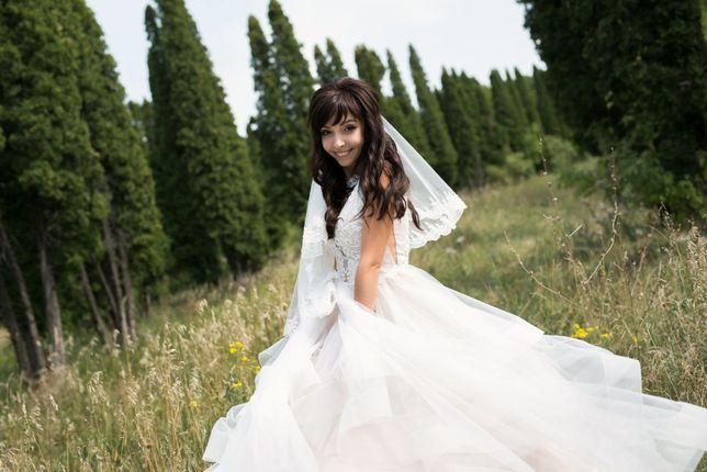 Свадебное платье (айвори/пудра) 15 тыс.рублей