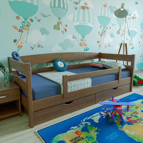 Ліжко дерев'яне «Лев» з масиву вільхи + Безкоштовна Доставка