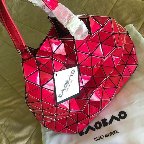 Большая сумка кристалл от Иссей Мияке женская брендовая наплечная