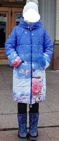 Пальто зимнее, на 9-12 лет,размер 38