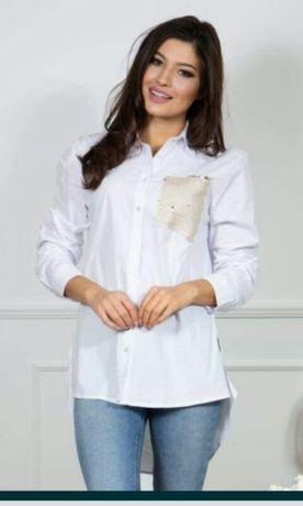Modna biała koszula
