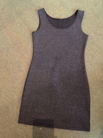 Платье серое размер s