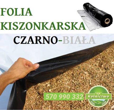 FOLIA KISZONKARSKA 10x33m czarno-biała na pryzmy, silosy RÓŻNE WYMIARY