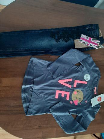 Spodnie bluzka cool club zestaw nowe roz. 116
