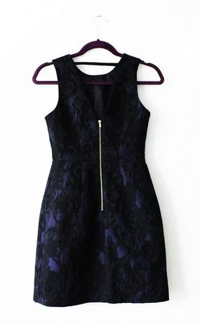Sukienka H&M elegancka czarno granatowa