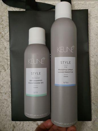 Keune косметика, шампунь и лак для волос