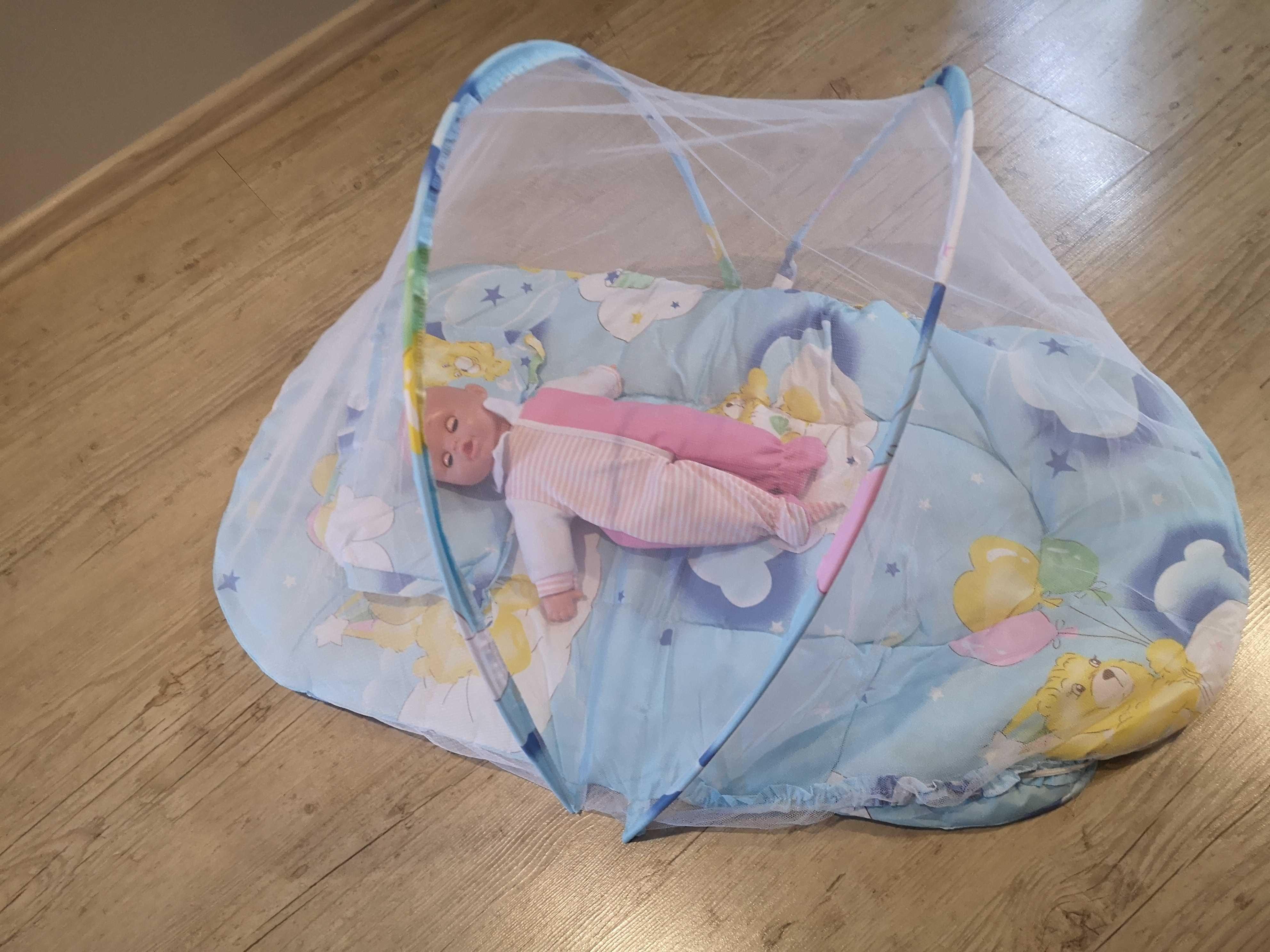 Łóżeczko/mata do spania z siatką dla niemowląt