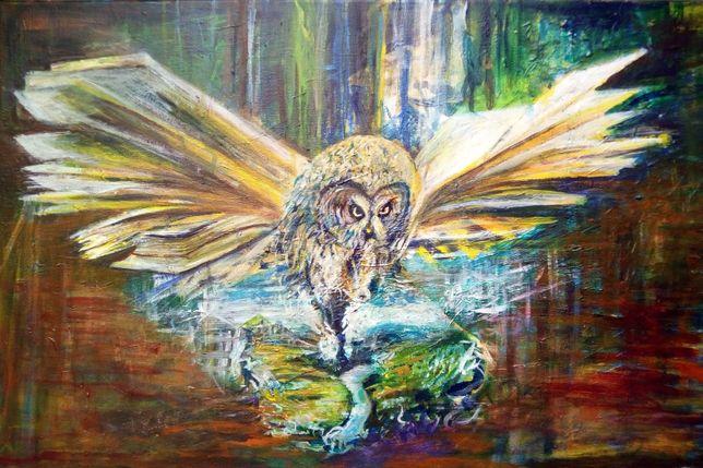 Obraz akrylowy ręcznie malowany Spektrum wiedzy G. Lazarek 60 x 40