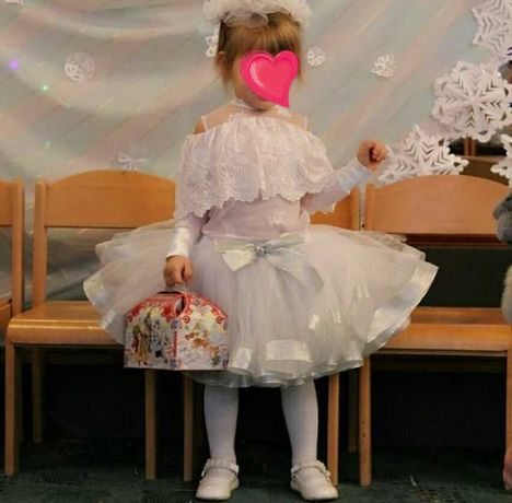 Новогодний костюм снежинки, снежной королевы 92-106см