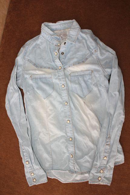 Рубашка джинсовая XS светлая
