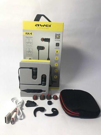Спортивні бездротові Bluetooth-навушники Awei AK4 Black