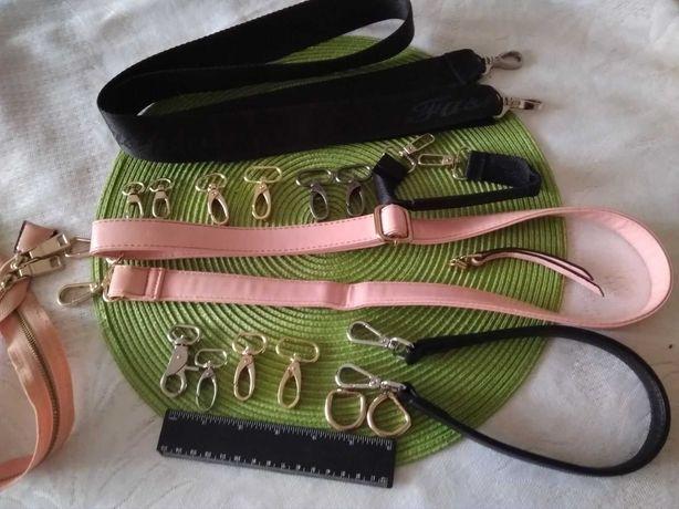Крепления  карабин для сумки-ручки разные