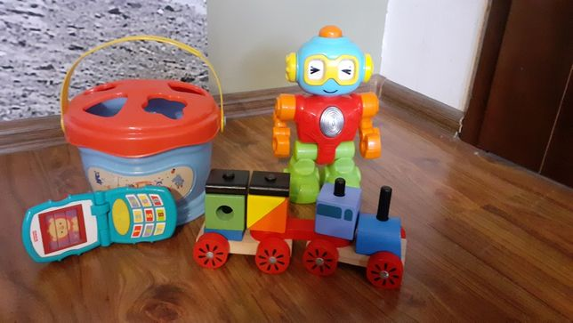 Robot de divertissement Trieur Phone Fisher Price Pociag Drewniany