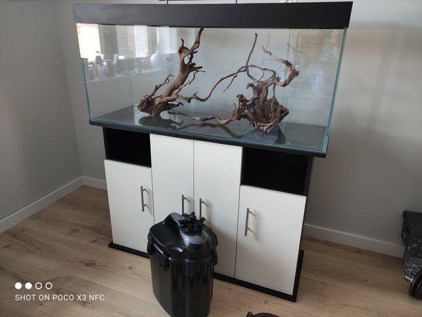 Przepiękne akwarium full Optiwhite 120x40x50 z LED pokrywa,Unimax 700,