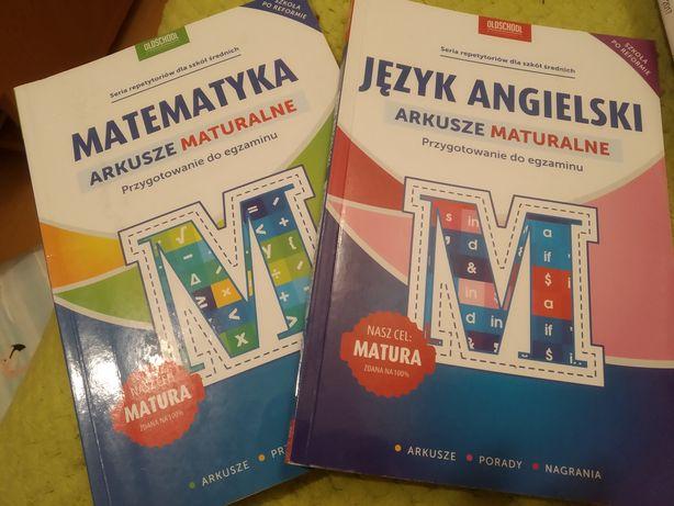 Arkusze maturalne matematyka i angielski