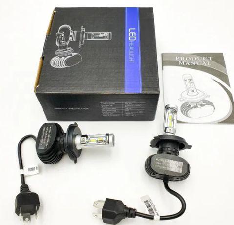 Автомобильные Лед Лэд LED S1лампы H1 , H4, H7 CSP Premium