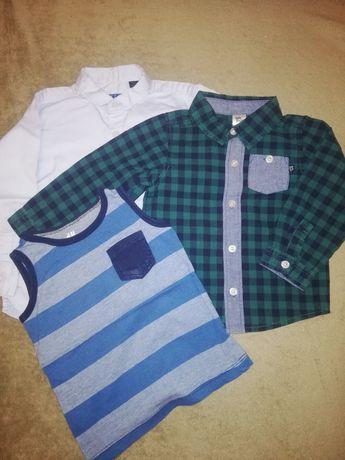 Рубашка, футболка, майка вещи на мальчика 1,5-3 года