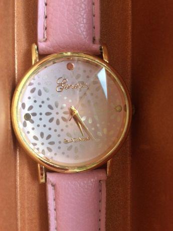 Zegarek Platinum skórzany pasek w kolorze pudrowy róż