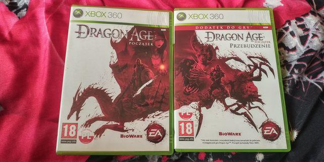 Dragon Age Początek + Przebudzenie PL Polski Dubbing X360 Xbox 360