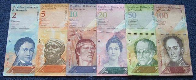 WENEZUELA - Komplet Banknotów Kolekcjonerskich w Stanie UNC ZESTAW