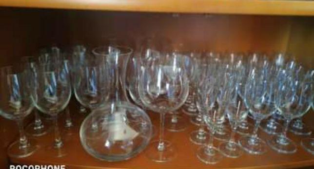 Serviço de copos com decanter e copos balao