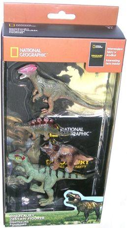 NATIONAL GEOGRAPHIC figurki zwierząt DINOZAURY zestaw komplet 4 szt.
