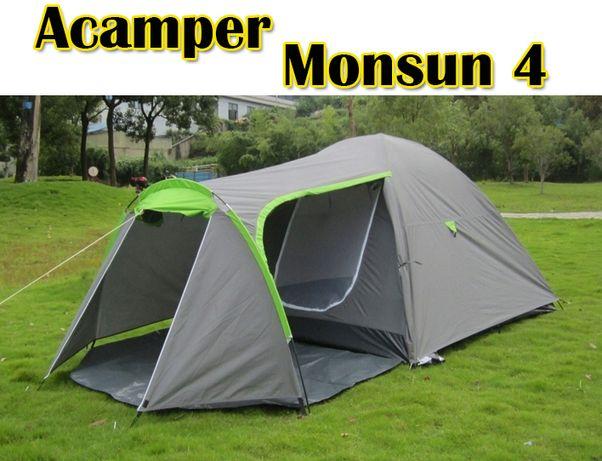 Палатка туристическая Acamper Monsun 4 двухслойная проклеенные швы