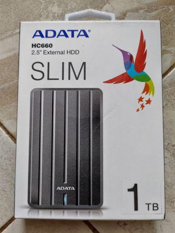 Зовнішній жорсткий диск ADATA HC660 титановий 1tb