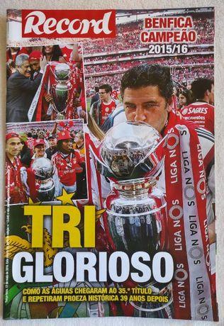 Revista Record Benfica 2015/2016 Tri Glorioso - SLB