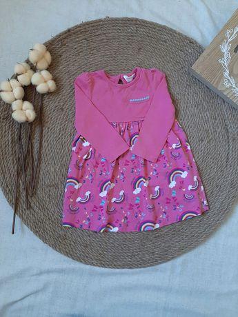 Трикотажное платье на девочку 9-12 мес