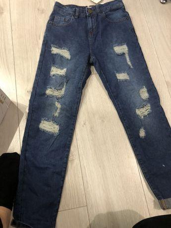 Zara джинси рвание